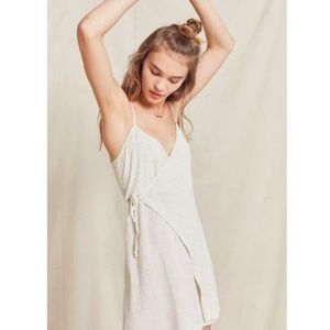 Urban Outfitters mini wrap dress beach sand new M